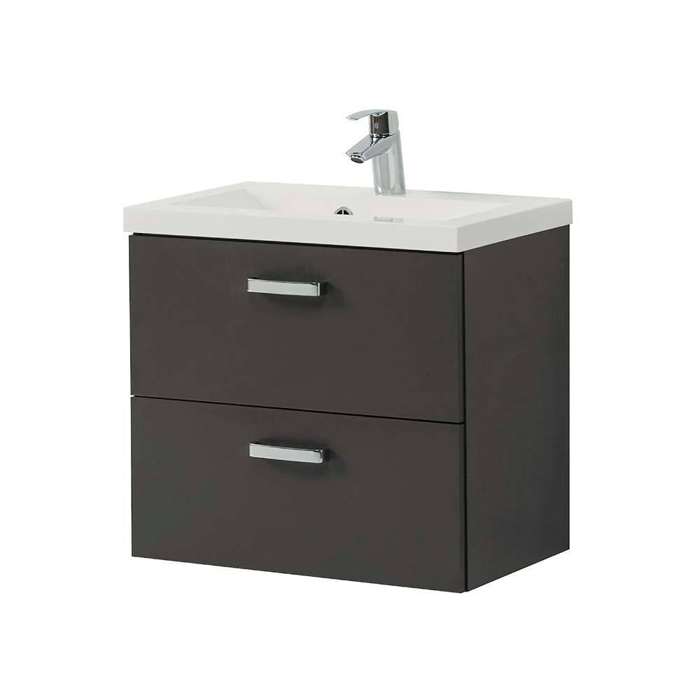 schubladen waschtisch in dunkelgrau 60 cm jetzt bestellen unter. Black Bedroom Furniture Sets. Home Design Ideas