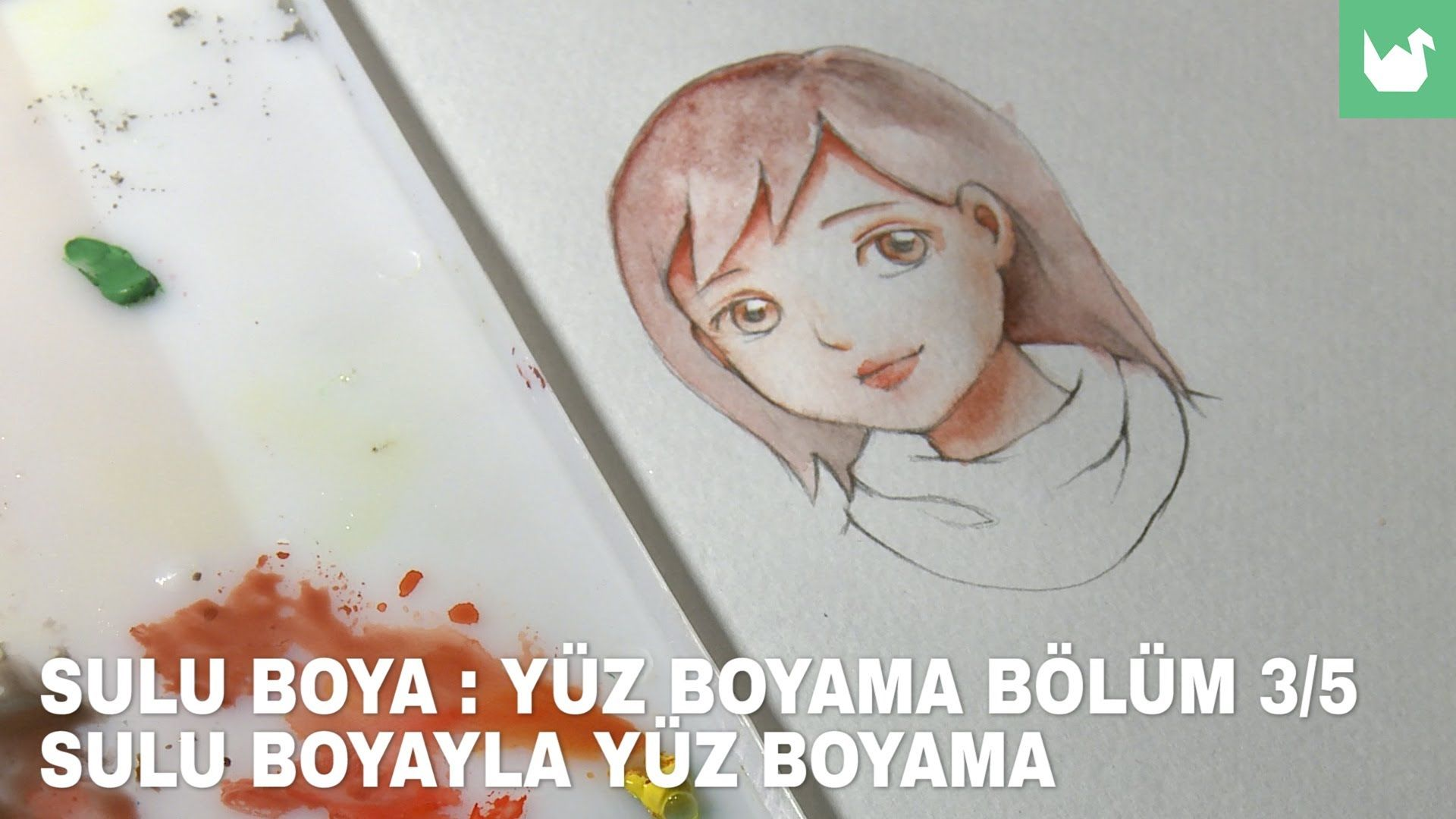 Sulu Boya Yuz Boyama 3 5 Boyama Sulu Boya Manga Yuzler