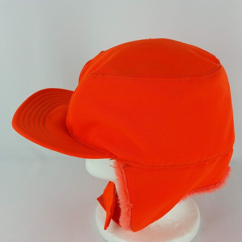 Vintage safety orange ear flaps padded hunting hat thinsulate fitted cap  usa thinsulate baseballcap jpg 1000x1000 88a31d5ff1fa
