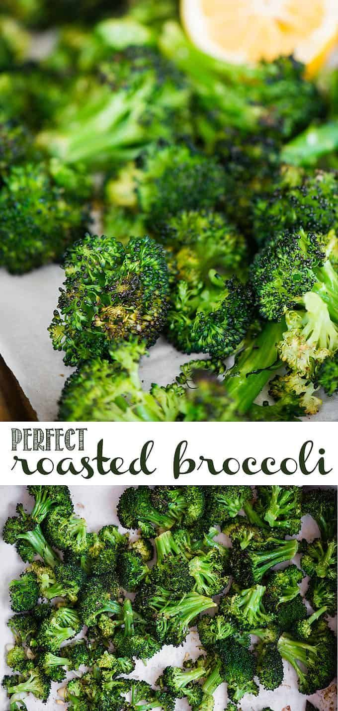 Roasted Broccoli is one of the easiest ways to prepare fresh broccoli as a dinner side dish. The trick to getting perfectly roasted broccoli lies in the few simple ingredients as well as the cooking method. Never again will you have to serve soggy broccoli after trying this recipe! #broccoli #roastedbroccoli #lemon #garlic #sidedish #vegetarian #vegan #whole30 #whole30recipes #vegetables #veganrecipes #veganfood #veganlife #sidedish #healthyrecipes #healthyeating #healthyliving #recipe
