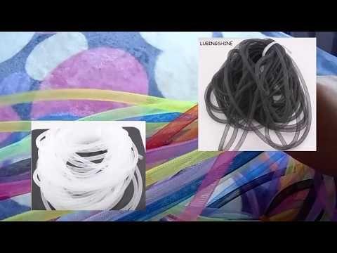 Кринолиновые, ювелирные трубочки ( Бижутерная сетка ) Из  АлиЭкспресс  ( AliExpress ) из Китая - YouTube