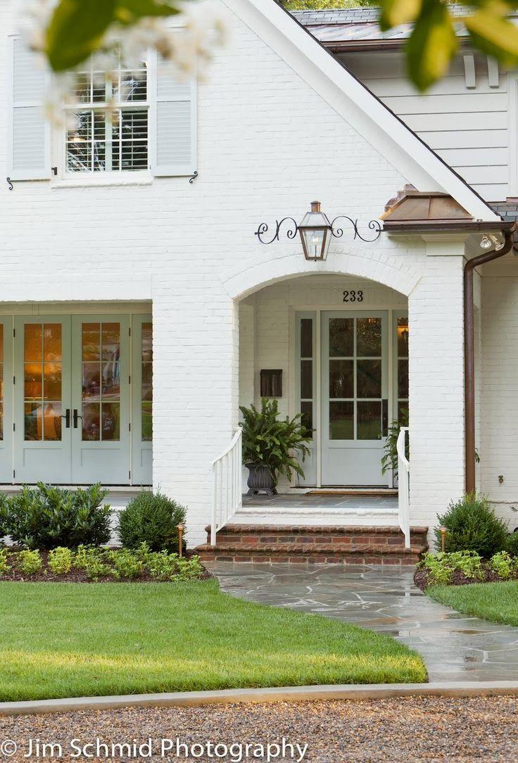 Interior exterior exterior design white brick houses white