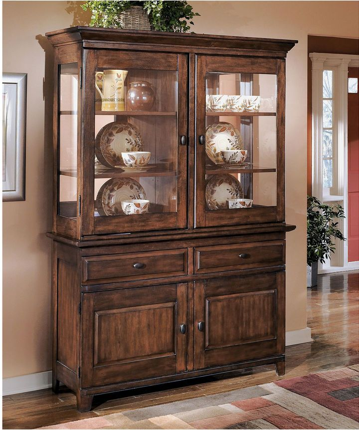 Signature Design By Ashley Larchmont China Cabinet Top Only