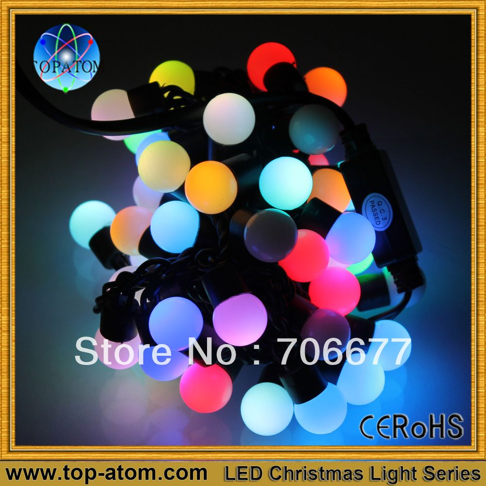Free Shipping, Can be customized,RGB Color, 1 set , Different colors, 50 leds per 5m, Decoration use Christmas Ball Lighting-in Christmas Decoration Supplies from Home  Garden on Aliexpress.com $9.95