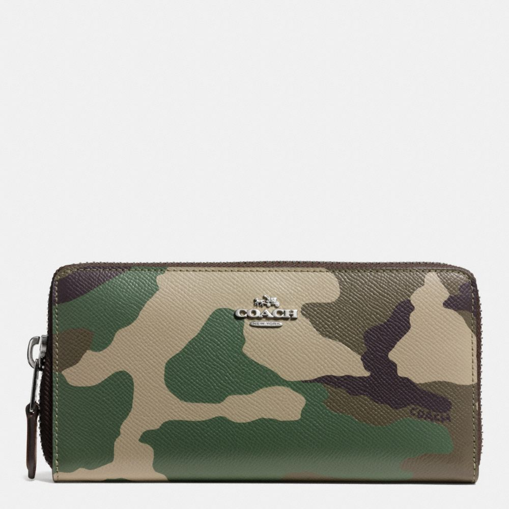 d7b91394a49 The Accordion Zip Around Wallet In Camo Print Crossgrain Leather from Coach