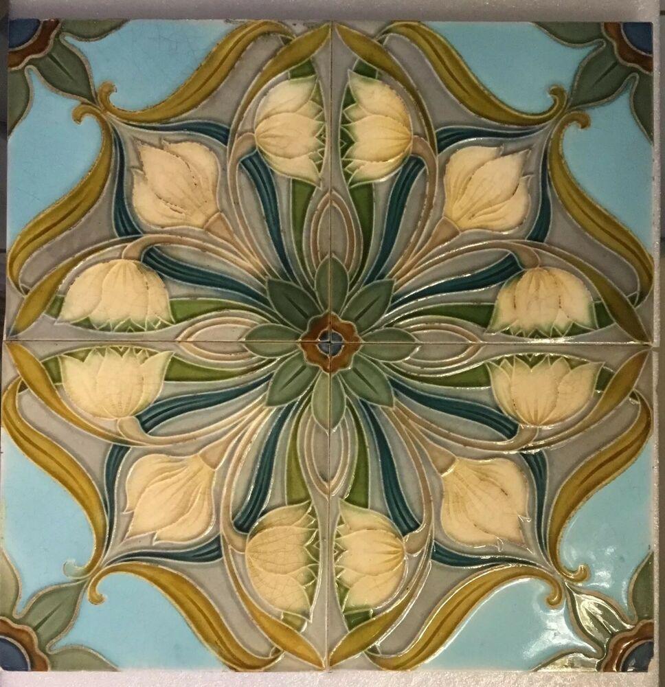Jugendstil Fliesen Tableau Kachel Tile Tegel Original Art ...