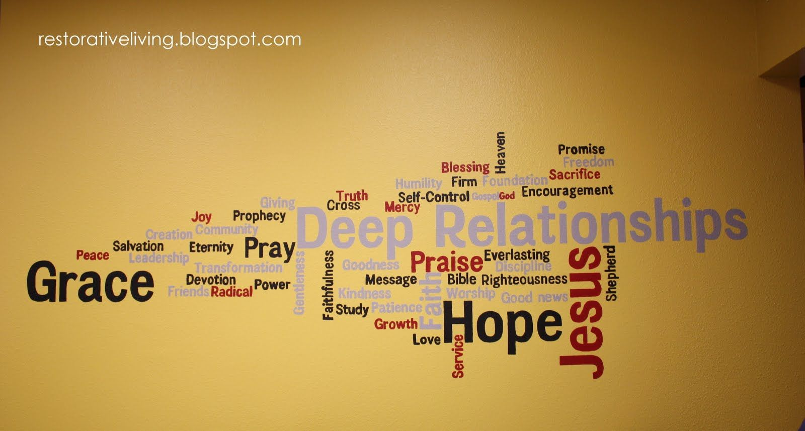 church youth room wall decoration | youth room | Pinterest | Word ...