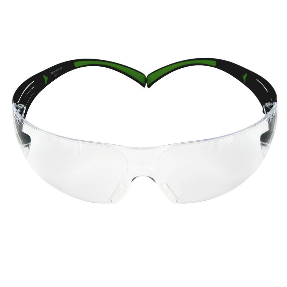 52a2902bb626 SecureFit 400 Series Black/Neon Green Frame with Anti-Fog Lens Safety  Eyewear (3-Pack Multi-Shaded Lenses)
