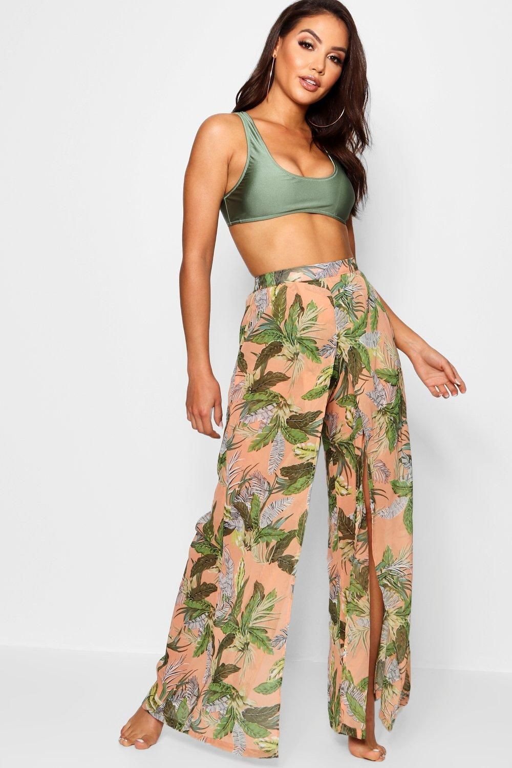 c63d2bea89 Click here to find out about the Laura Tropical Split Leg Beach Trouser  from Boohoo, part of our latest NEW IN collection ready to shop online  today!
