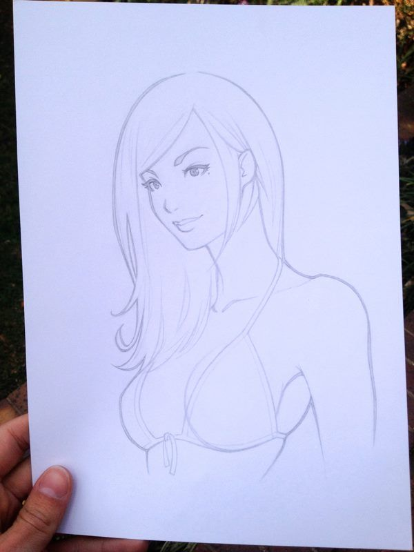 Topic sketches of girls in bikinis express