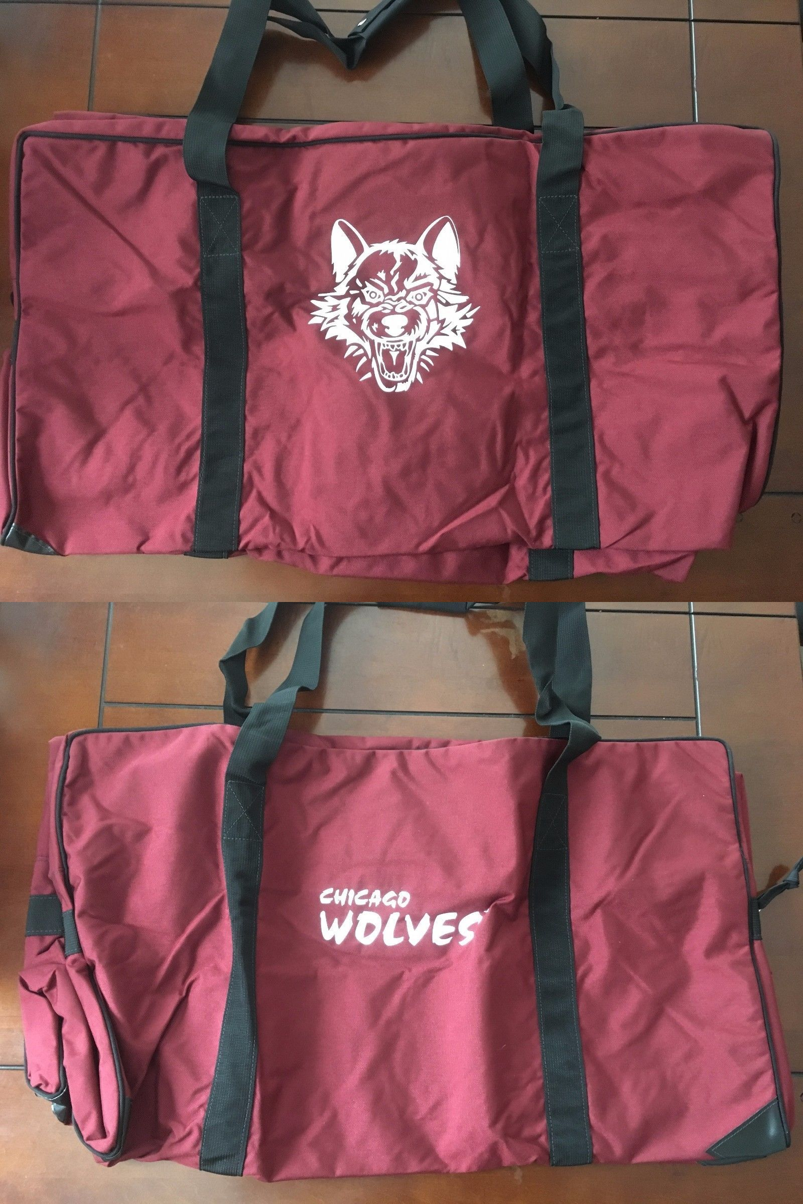 Equipment Bags 58113: Jrz Hockey Official Ahl Bag Chicago Wolves Team Pro Stock Player Brand New BUY IT NOW ONLY: $162.7