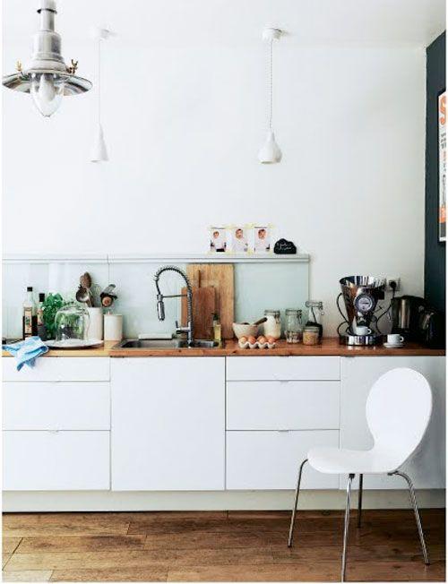 schön mit den hängenden schränken küche Pinterest White wood