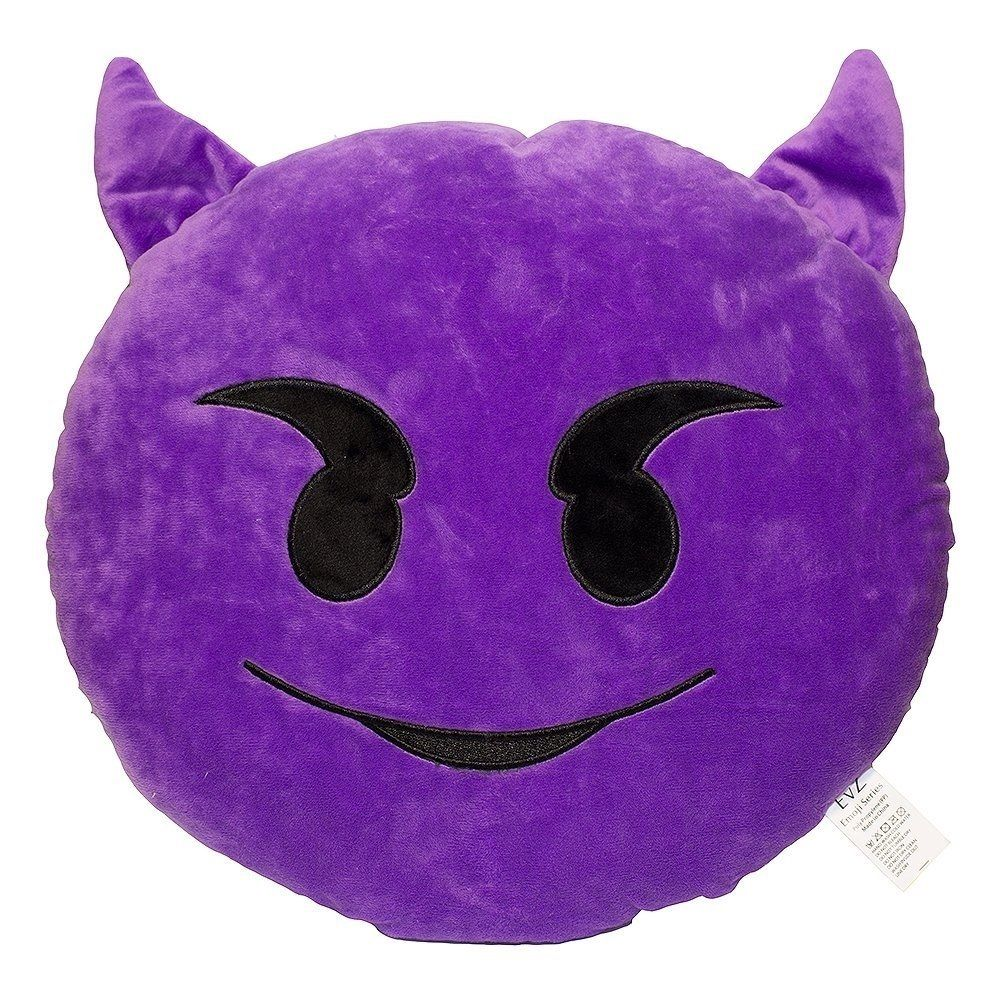 Emoji devil emoticon plush pillow birthday gifts for friends