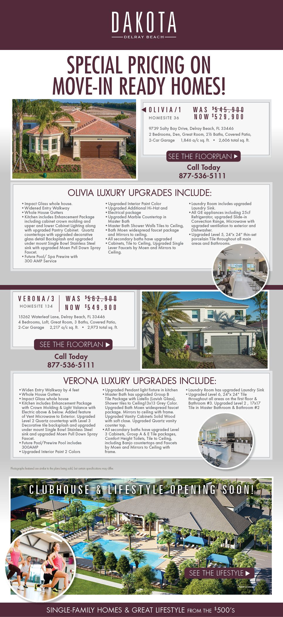 Move In Ready Homes At Dakota In Delraybeach By Glhomes Florida Real Estate Florida Homes For Sale Florida Home