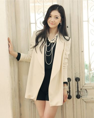 Noble V-neck Women Solid Blazer Jacket on BuyTrends.com, only price $44.00