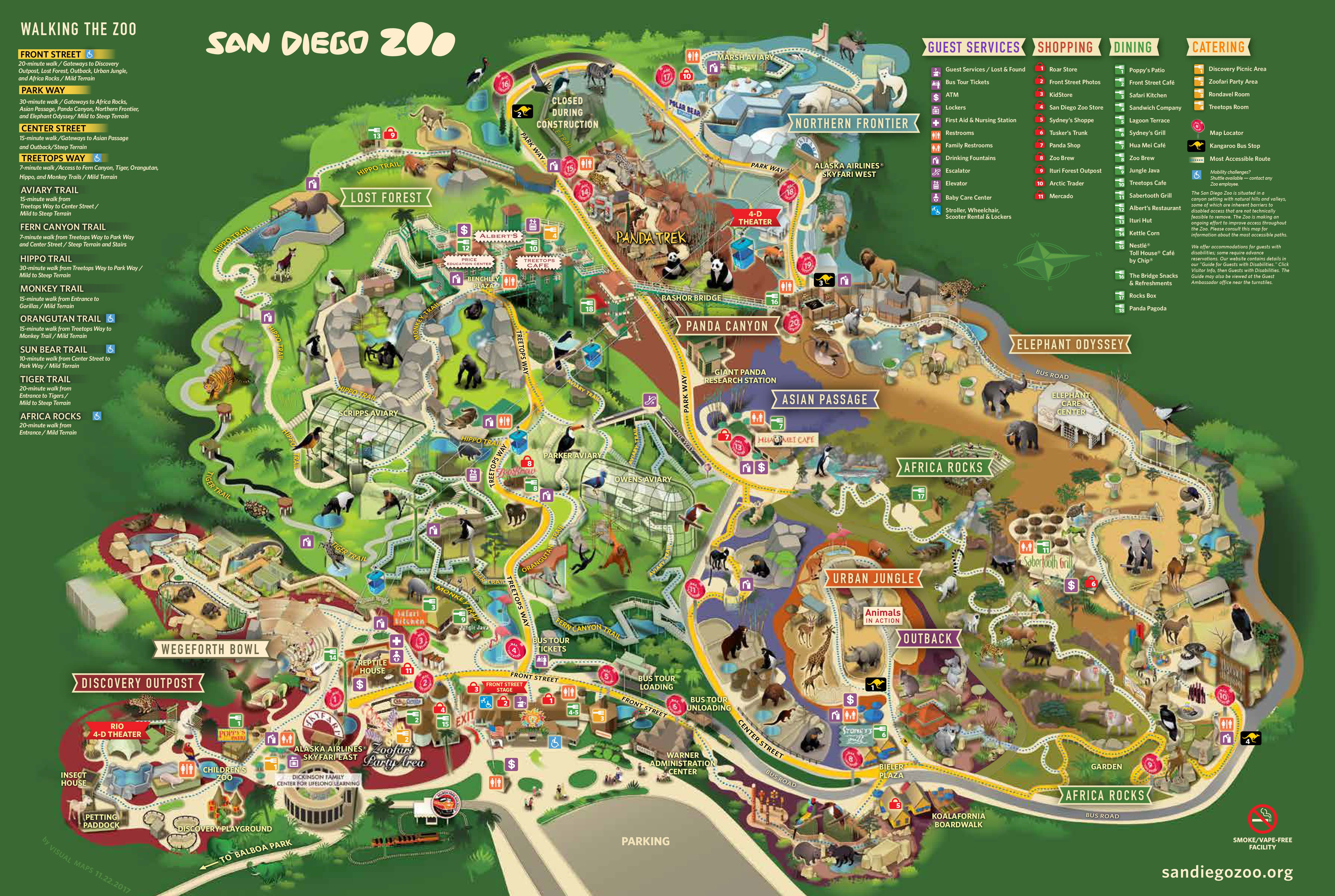 Use this handy San Diego Zoo map to locate your favorite