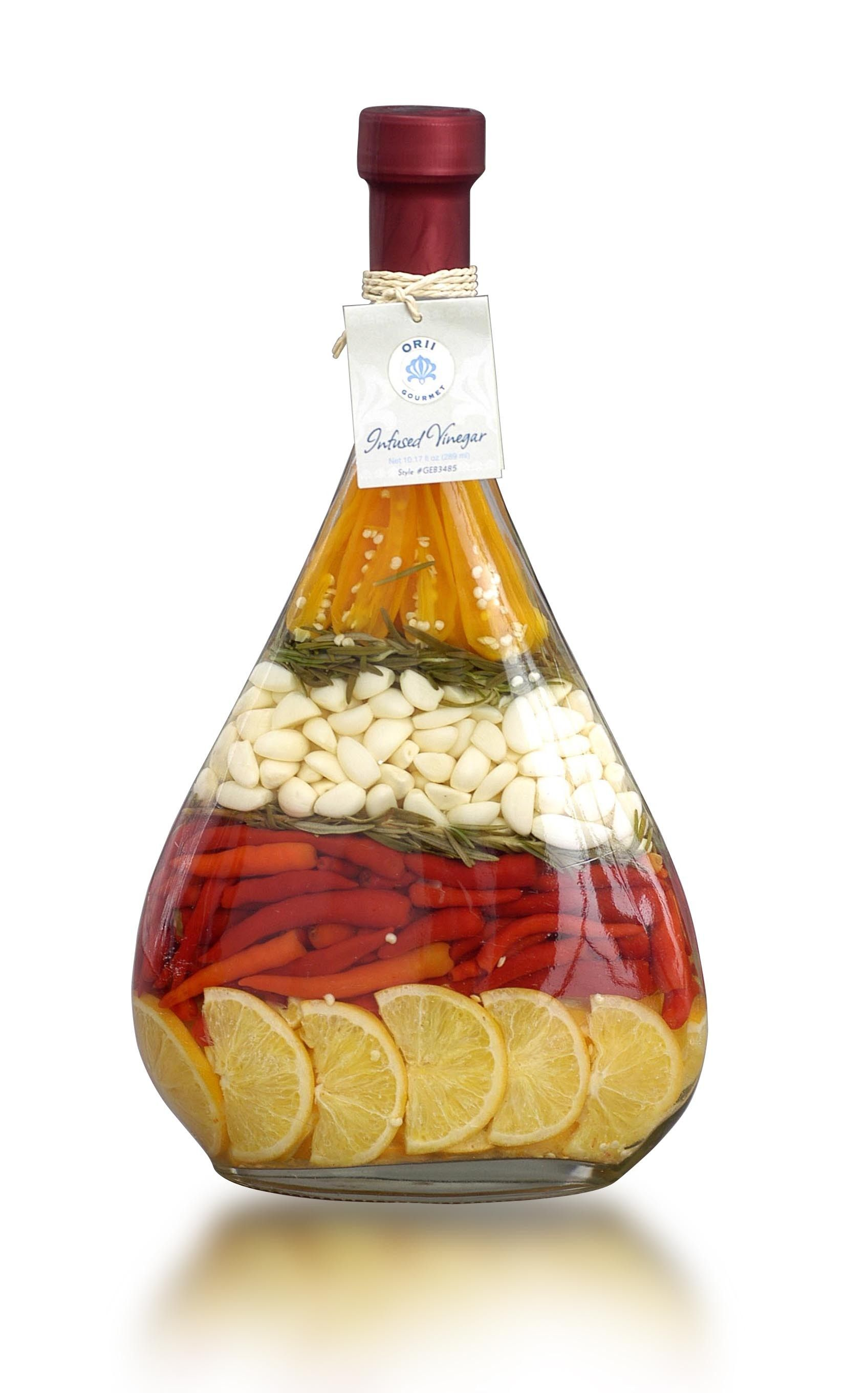 lute decorated vinegar bottle love these infusions