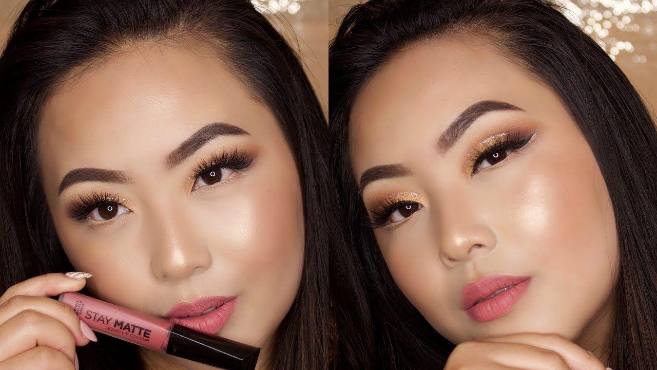 Gold Glitter Smokey Eye Tutorial Sephora Pro Warm Eye Shadow