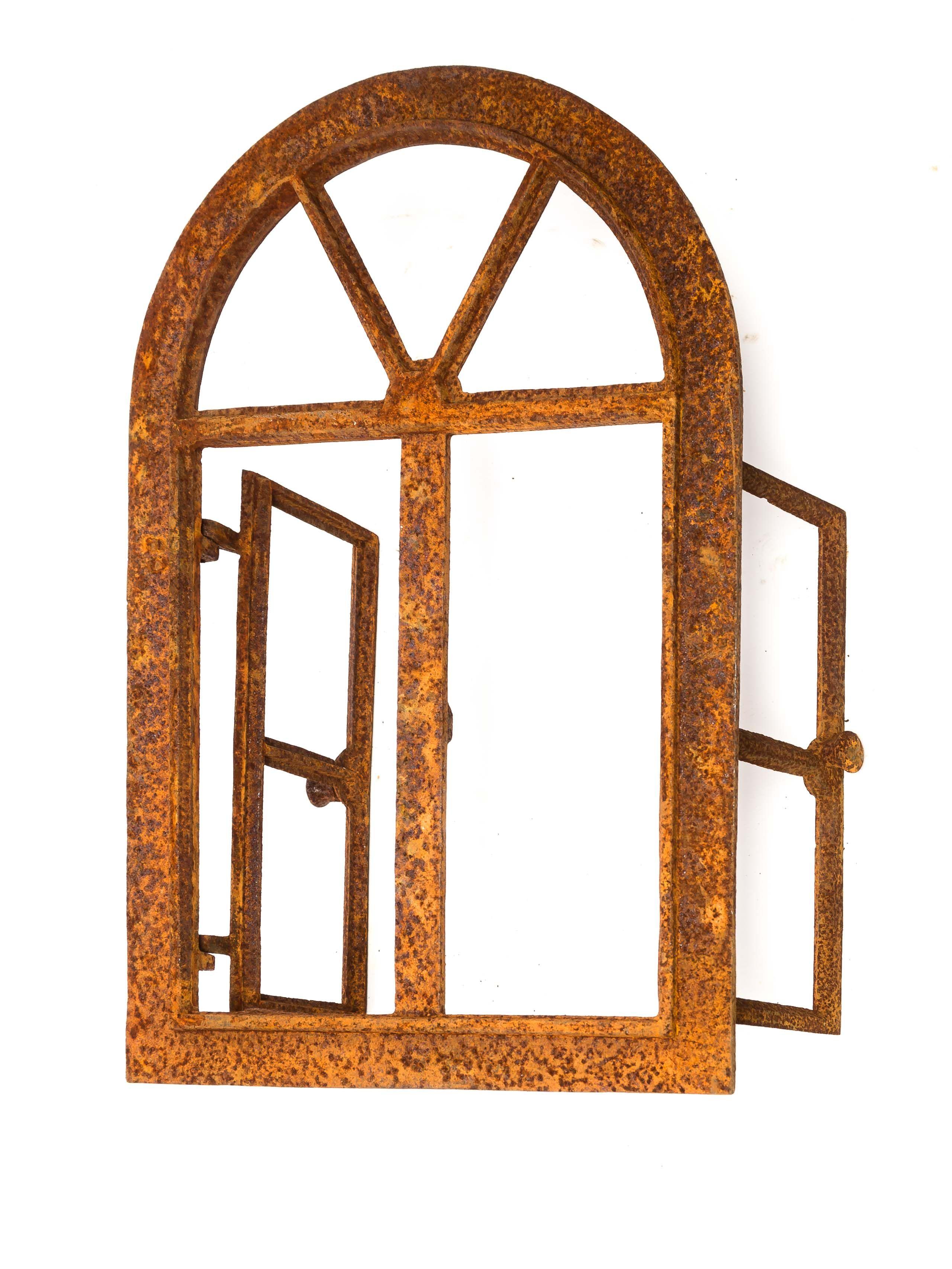 Stallfenster Fenster Scheunenfenster Eisen grau 46 x 74cm Antik-Stil
