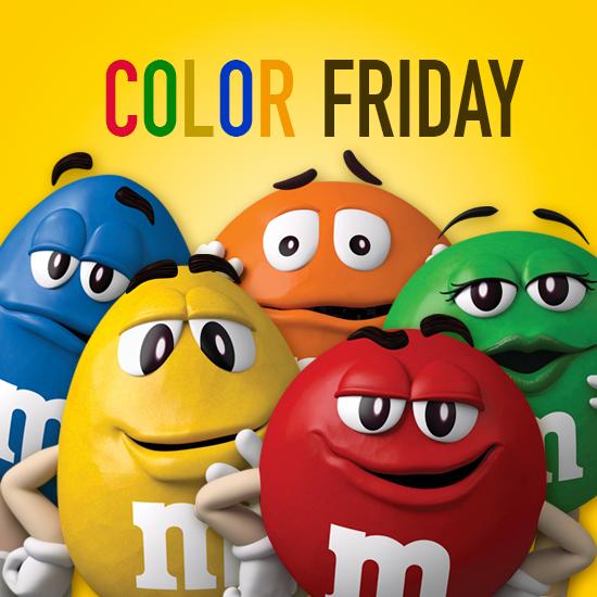 M M S No Black Friday But Color Friday アメリカンイラスト かわいいイラスト かわいい