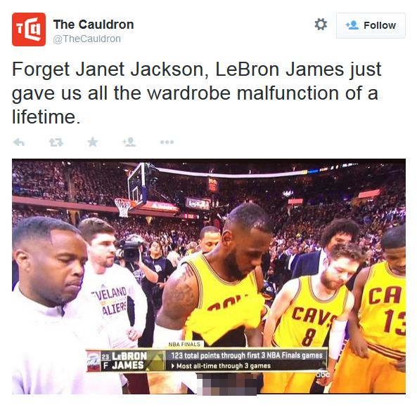 Oops: LeBron James Accidentally Flashes Privates On Live TV LeBron James Exposed  #LeBronJamesExposed