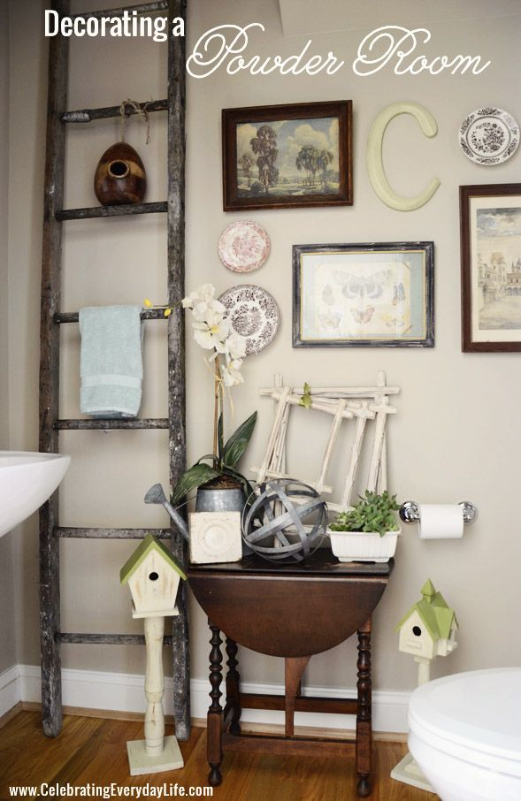 Home tour powder room wall collage and decorating walls teraionfo