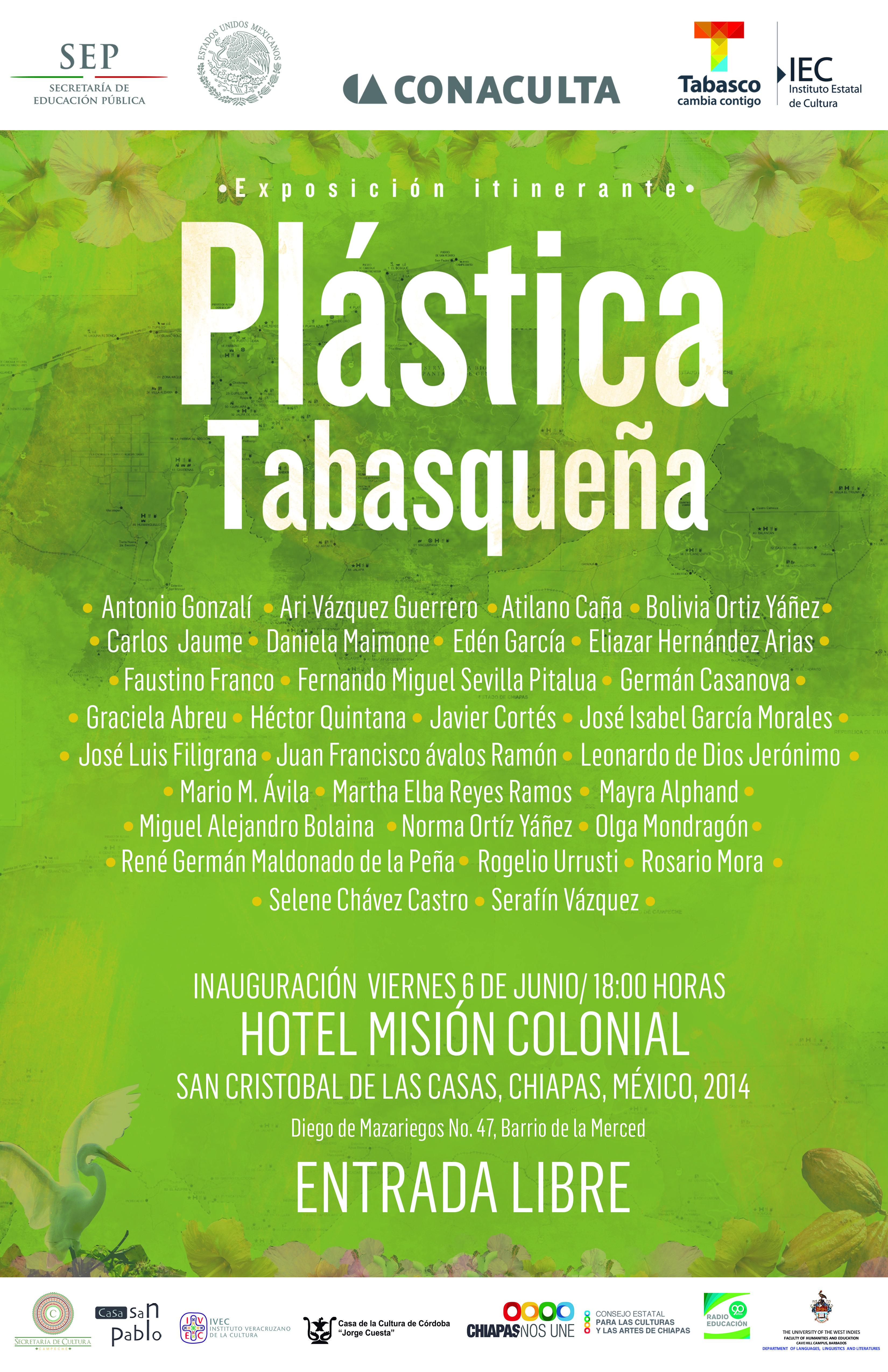 Exposición Itinerante Colectiva que reúne a los mejores pintores de Tabasco.