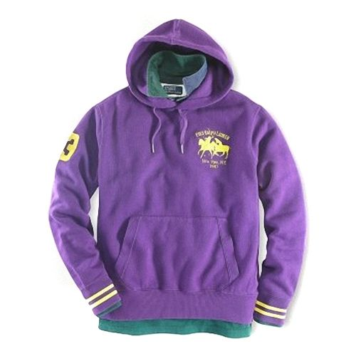 Ralph Lauren Mens 1009 Match Hoodie in Purple
