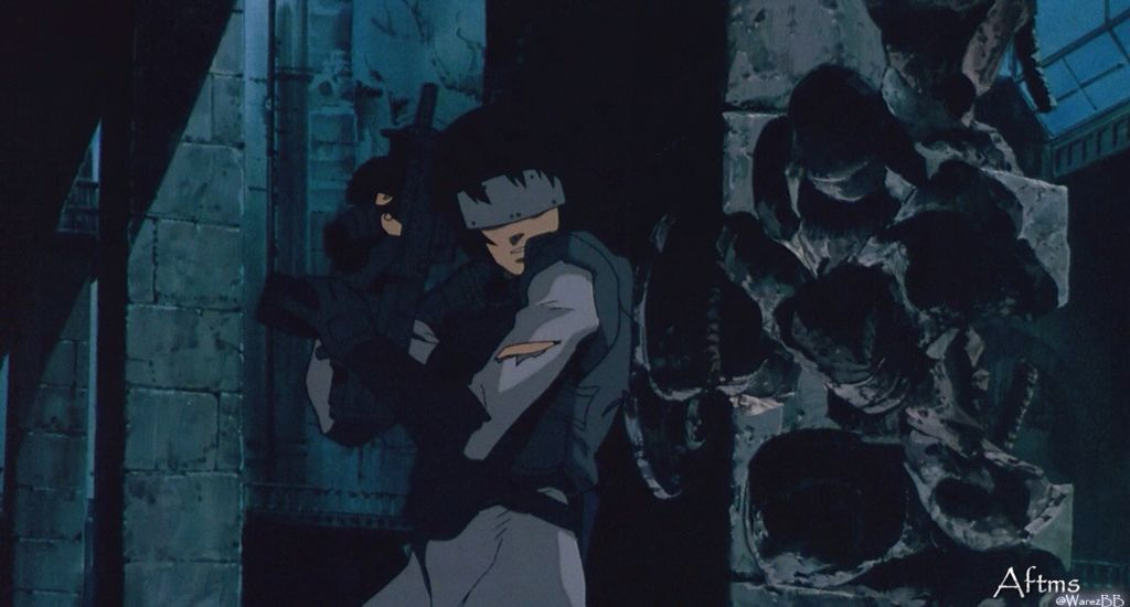 Ghost In The Shell 1995 Tank Shootout With Images Ghost In The Shell Anime Ghost Anime