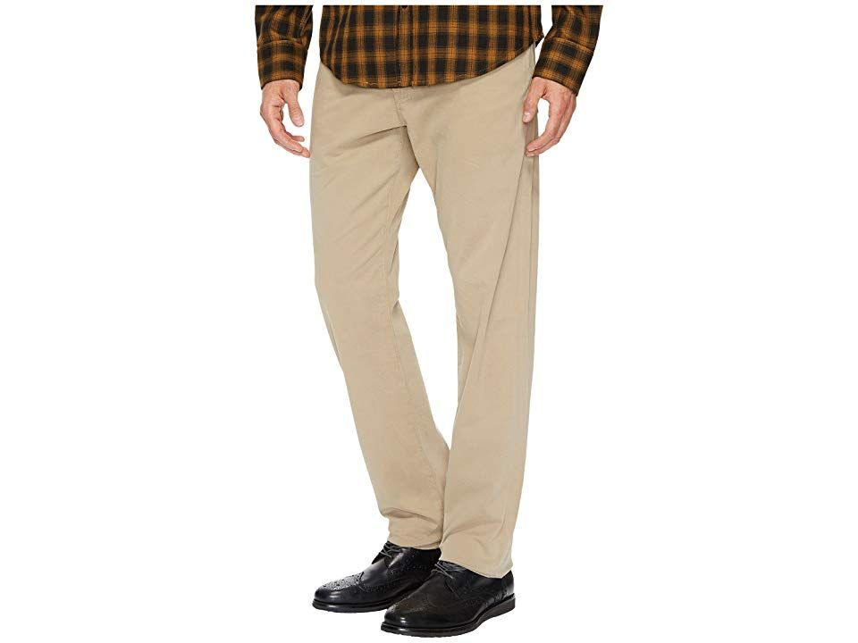 AG Adriano Goldschmied Graduate Tailored Straight Sueded Stretch Sateen Khaki Mens Casual Pants A modern straight leg pant for welldressed gentlemen The Graduate is an up...