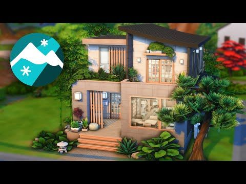 Modern Japanese Home [No CC] The Sims 4 Snowy Escape