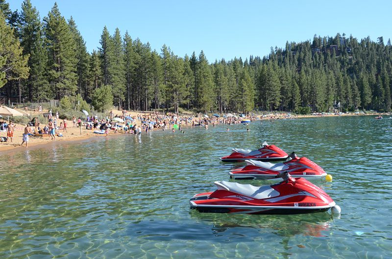 Come Join The Party At Zephyr Cove Beach This Is One Of Lake Tahoe S Best Beaches For People Watching A Bit Crowded Times But Still Great Place