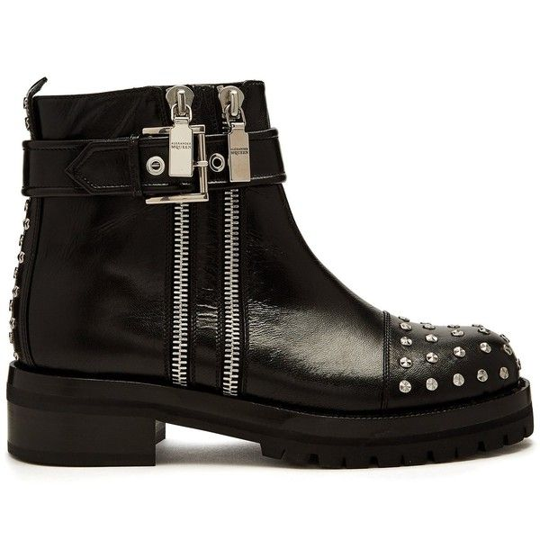 Shop For Cheap Price Cheapest Price Cheap Online Stud-embellished leather biker boots Alexander McQueen Buy Online With Paypal Pay With Visa For Sale nlvmD
