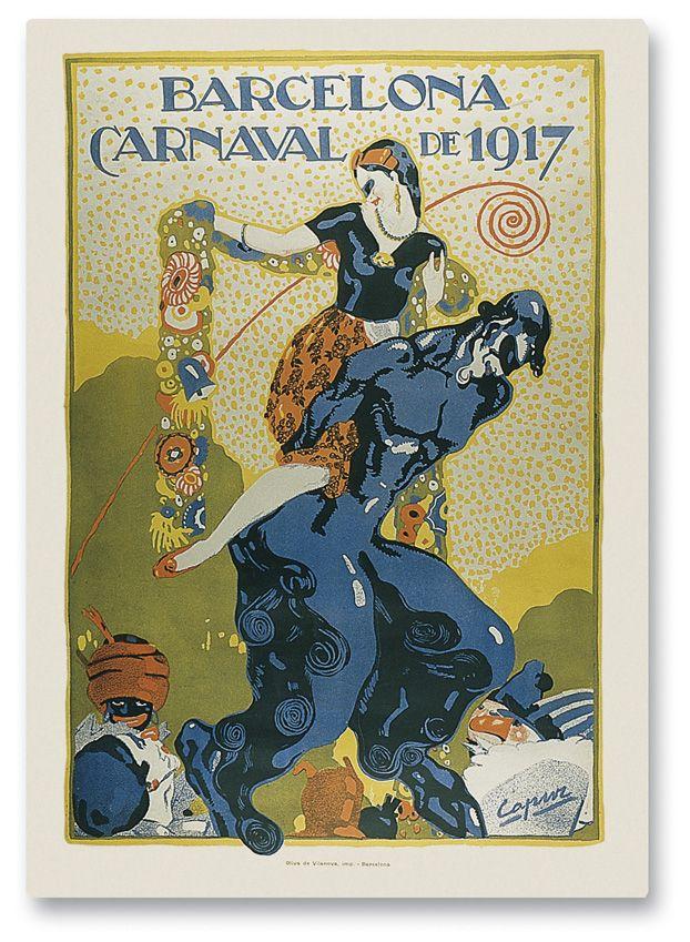 És obra segura de Capuz el polèmic cartell Barcelona Carnaval de 1917