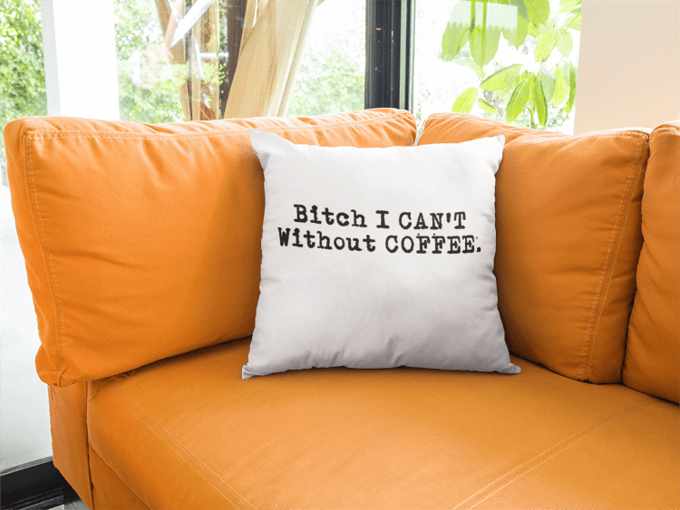 I Can T Without Coffee Pg 13 Logo Bold Basic Pillow Pillows How To Make Pillows Couple Pillow