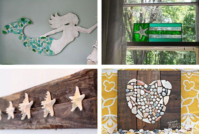 29 Beach Crafts Coastal Diy Wall Art Beach Crafts Diy Beach