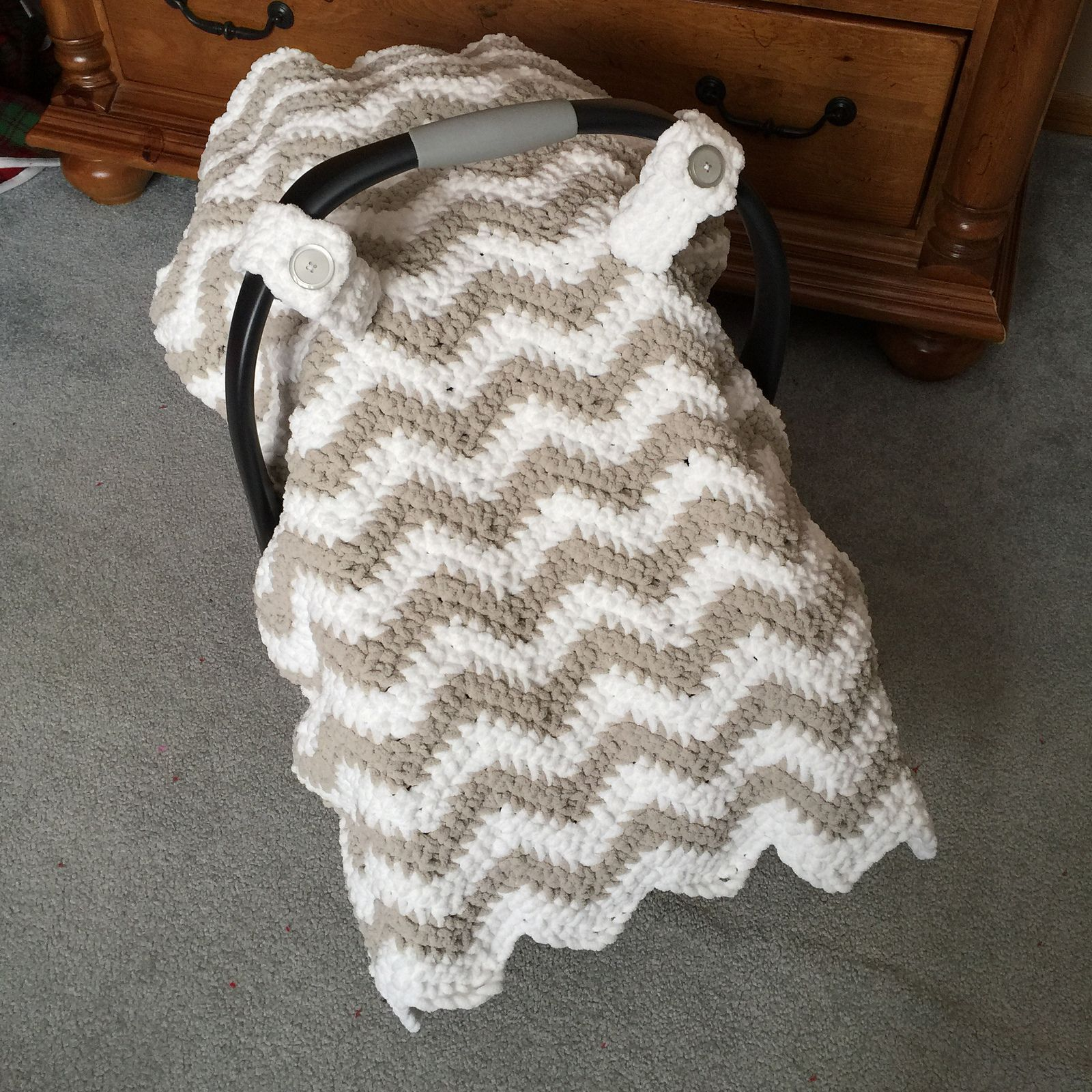 Chunky Chevron Car Seat Canopy Cover Pattern By Crochet By