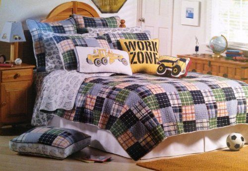 Boy Zone Construction Full /Queen Quilt U0026 2 Standard Shams By Boy Zone.  $159.99