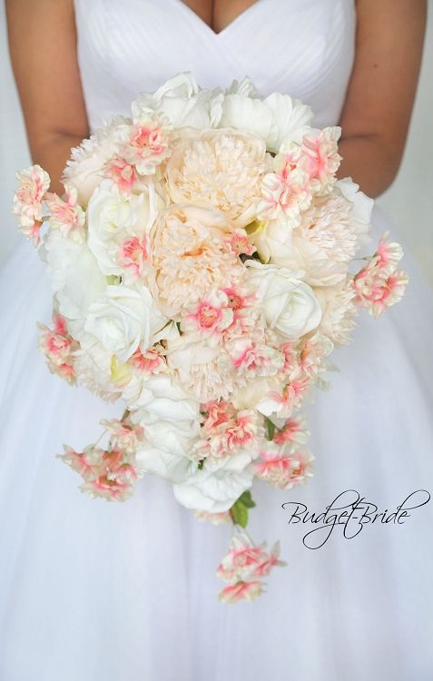 Davids Bridal Cherry Blossom wedding bouquet with Bellini Peach and ...