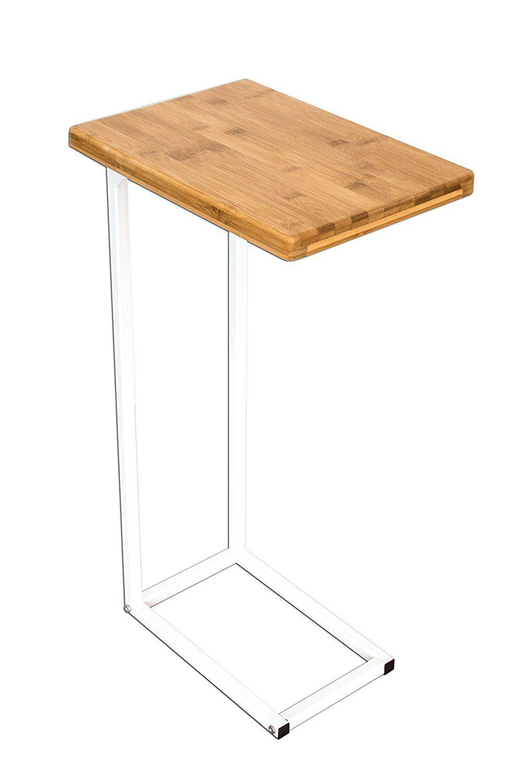 BonVIVO® Designer Couchtisch DONNA, Beistelltisch In Moderner Edelstahl Naturholz  Kombination Mit Stahlgestell