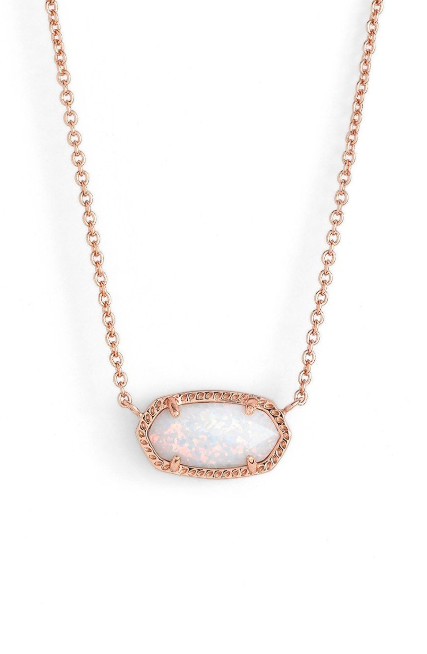 23d74046630181 Absolutely in love with this rose gold and white opal necklace by Kendra  Scott.