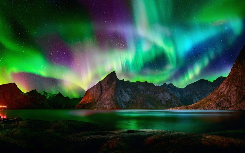 Desktop Wallpaper Beautiful Colorful Northern Lights Aurora Northern Lights Wallpaper Northern Lights Lit Wallpaper