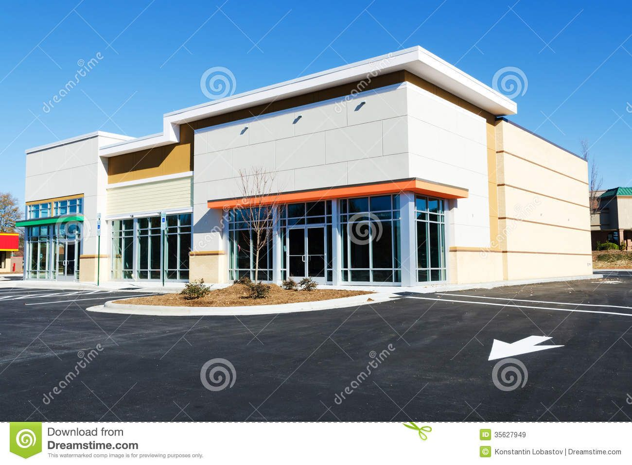 Retail buildings newly constructed small commercial for Retail building plans