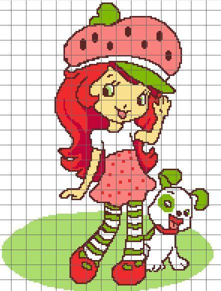 Strawberry Shortcake Cross Stitch Patterns | Strawberry Shortcake ...