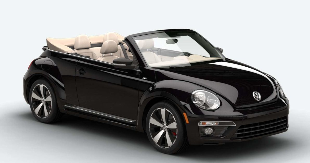 Black Pearl 2015 VW Beetle R Line Convertible with tan