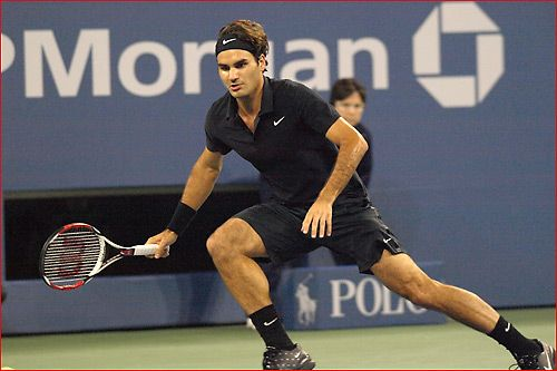 a0b0154f Roger Federer's badass all black outfit - US Open 2007 | Tennis ...