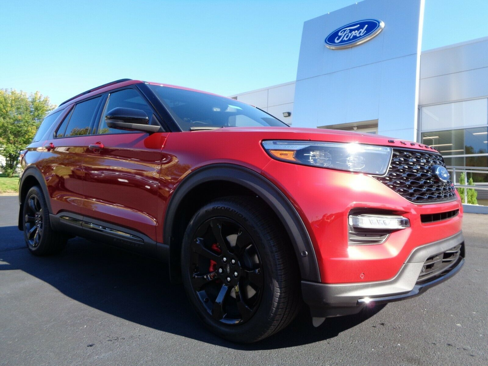 Awesome Used 2020 Ford Explorer New 2020 St Edition High Performance Rapid Red New 2020 Ford Explorer St High Performance In 2020 Ford Explorer 2020 Ford Explorer Ford