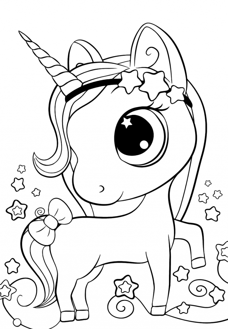 Cute unicorn coloring pages for kids in 2020 | Unicorn ...
