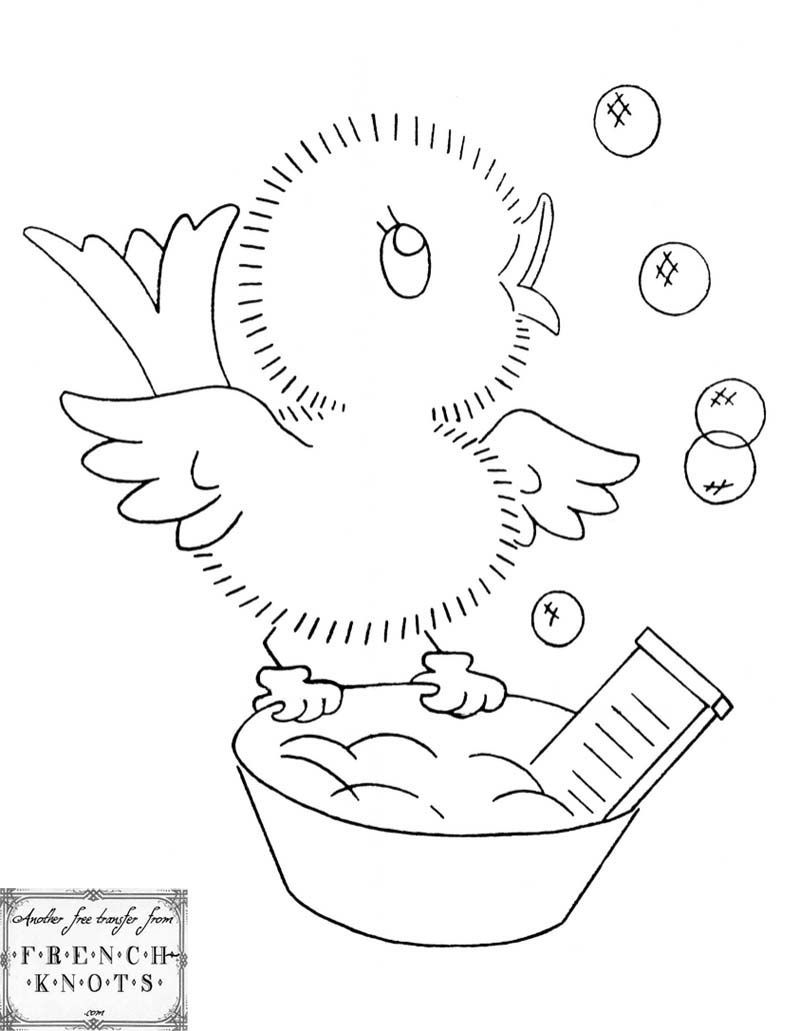 Vintage Embroidery Patterns Cute Vintage Chicks Embroidery
