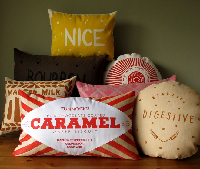 biscuit shaped pillows